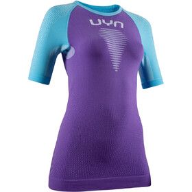 UYN Marathon OW Maglia A Maniche Corte Donna, deep lavander/river blue/white